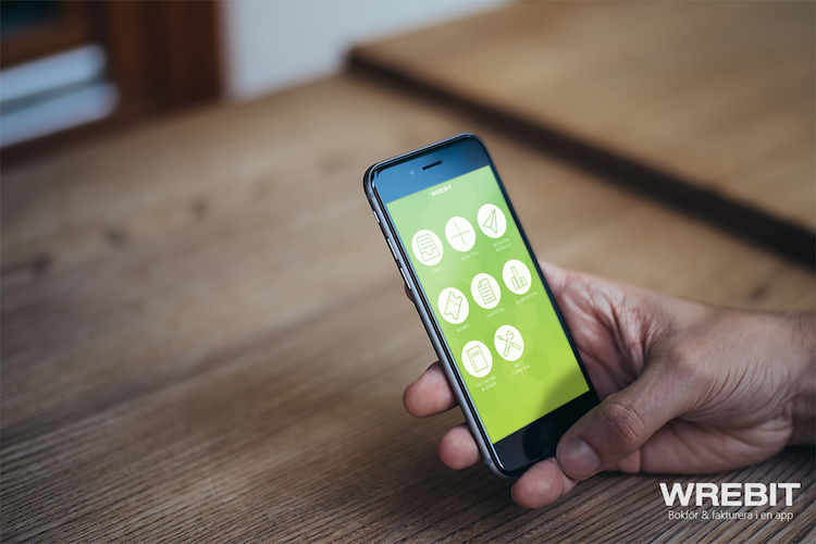 Bokför med mobilen i Wrebit bokföringsapp