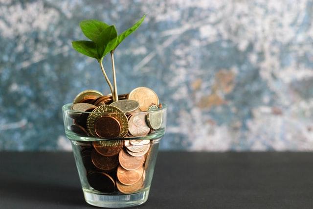Pengar i ett glas